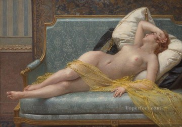 Guillaume Seignac Painting - The Awakening nude Guillaume Seignac