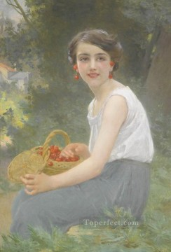 Guillaume Seignac Painting - The Cherry Girl Guillaume Seignac