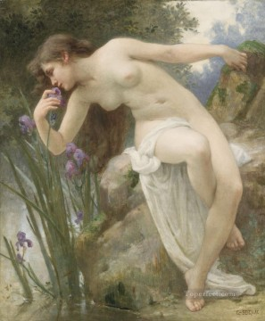 Guillaume Seignac Painting - The Fragrant Iris Academic nude Guillaume Seignac