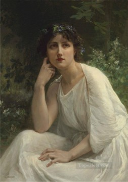 Guillaume Seignac Painting - Woman in White Guillaume Seignac