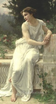 Guillaume Seignac Painting - YOUNG WOMAN OF POMPEII ON A TERRACE Academic Guillaume Seignac
