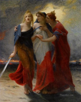 Guillaume Seignac Painting - Belgium France and England Before the German Invasion Guillaume Seignac