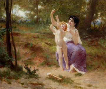 Guillaume Seignac Painting - Cupid Disarmed Guillaume Seignac
