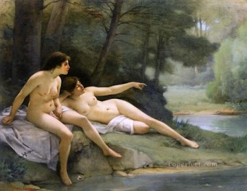 Guillaume Seignac Painting - Nudes in the Woods nude Guillaume Seignac