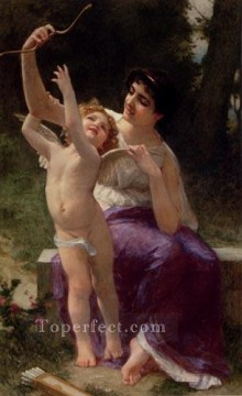 Guillaume Seignac Painting - Venus And Cupid Academic Guillaume Seignac