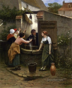 Guillaume Seignac Painting - By the Well Guillaume Seignac