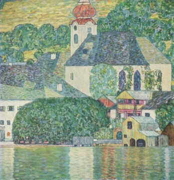 Kirchein Unteracham Attersee Symbolism Gustav Klimt Oil Paintings