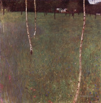 Bauernhausmit Birken Symbolism Gustav Klimt Oil Paintings