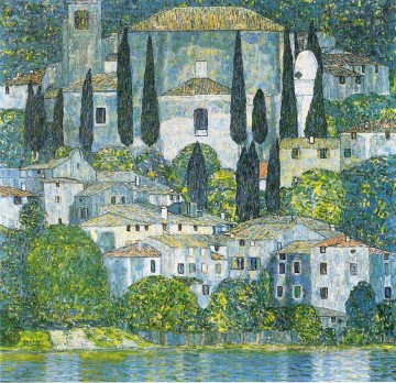 klimt kiss Painting - Chruch in Cassone Gustav Klimt