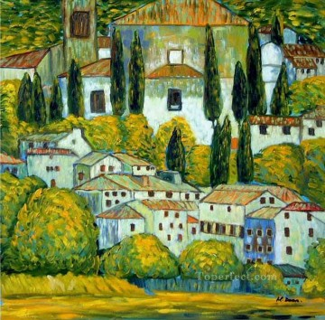 Chruch in Cassone Gustav Klimt landscape 2 Oil Paintings