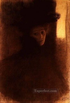 Dame mit Cape 1897 Symbolism Gustav Klimt Oil Paintings