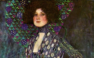 Emilie Floge 1902 Symbolism Gustav Klimt Oil Paintings