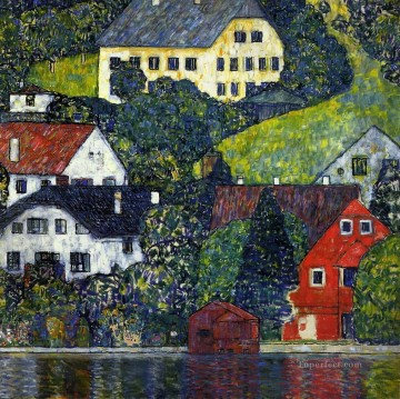 Houses at Unterach on the Attersee Gustav Klimt Oil Paintings
