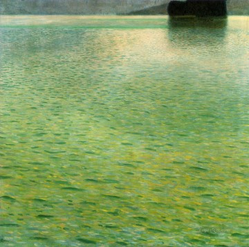 Gustave Klimt Painting - Island in the Attersee Gustav Klimt