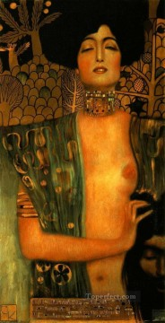 Judith and Holopherne dark Gustav Klimt Oil Paintings