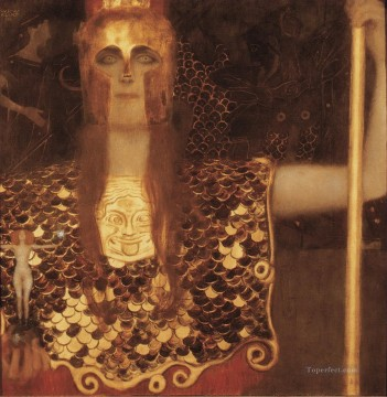 Minerva or Pallas Athena Gustav Klimt Oil Paintings