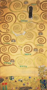 Nine Cartoons for the Execution of a Frieze Gustav Klimt gold Oil Paintings
