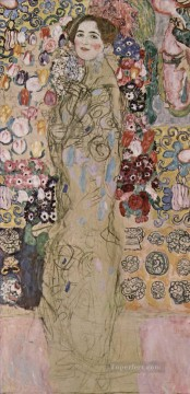 Portrat der Maria Munk Symbolism Gustav Klimt Oil Paintings