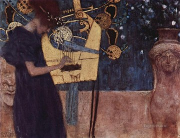 Die Musik Symbolism Gustav Klimt Oil Paintings