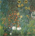 Farmer Garden with Sunflowers Symbolism Gustav Klimt flowers
