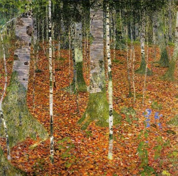 Farmhouse with Birch Trees Gustav Klimt Oil Paintings