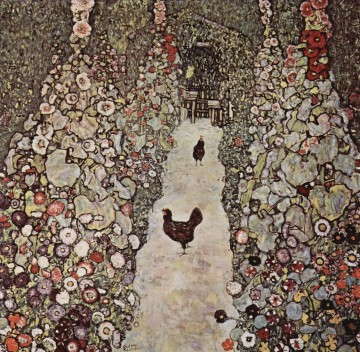 Garden with Roosters Gustav Klimt Oil Paintings