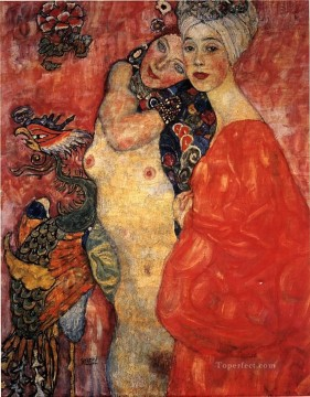 Girl friends 1916 Symbolism Gustav Klimt Oil Paintings