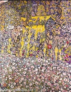 Horticultural landscape with a hilltop Gustav Klimt Oil Paintings