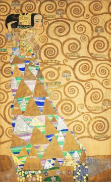 left Canvas - The Tree of Life Stoclet Frieze left Gustav Klimt