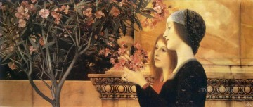 Gustave Klimt Painting - Two Girls With An Oleander Gustav Klimt