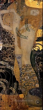 Wasserschlangen I 1904 Symbolism Gustav Klimt Oil Paintings