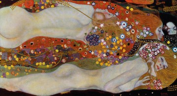 Water Snakes II Gustav Klimt Oil Paintings