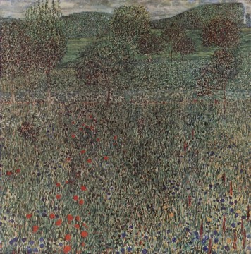 Blooming field Gustav Klimt Oil Paintings