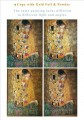 Copy of The Kiss Gustav Klimt with Gold Foil Golden Powder Please Save Image and Enlarge to See Details