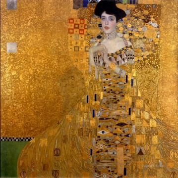 klimt kiss Painting - Gustav Klimt Portrait of Woman in Gold