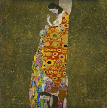 Hope II Gustav Klimt Oil Paintings