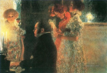 Gustave Klimt Painting - Schubert at the piano I Gustav Klimt