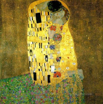 klimt kiss Painting - The Kiss Gustav Klimt