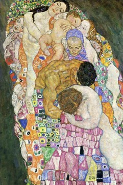 Gustave Klimt Painting - Death and Life part Gustav Klimt