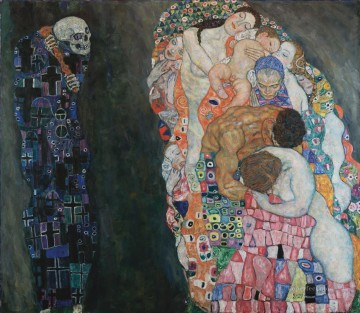Death and Life Gustav Klimt Oil Paintings