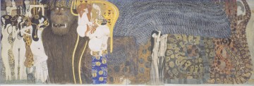 Gustave Klimt Painting - The Beethoven Frieze The Hostile Powers Far Wall Gustav Klimt