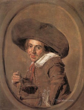 portrait - A Young Man In A Large Hat portrait Dutch Golden Age Frans Hals