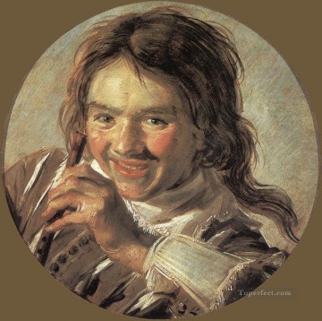 Lute Art - Boy Holding A Flute portrait Dutch Golden Age Frans Hals