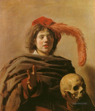 Frans Hals Painting - Boy with a Skull portrait Dutch Golden Age Frans Hals