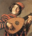 Buffoon Playing a Lute portrait Dutch Golden Age Frans Hals