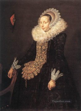 portrait - Catharina Both Van Der Eern portrait Dutch Golden Age Frans Hals