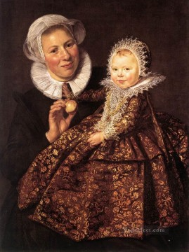 cat Art Painting - Catharina Hooft with her Nurse portrait Dutch Golden Age Frans Hals