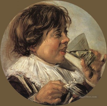 portrait - Drinking Boy portrait Dutch Golden Age Frans Hals