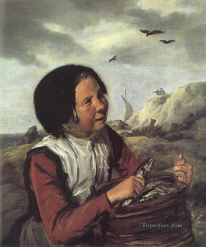portrait - Fisher Girl portrait Dutch Golden Age Frans Hals