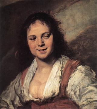 Frans Hals Painting - Gypsy Girl portrait Dutch Golden Age Frans Hals